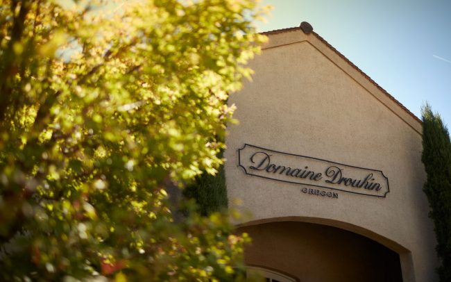 Domaine Drouhin Oregon sign over tasting room entrance