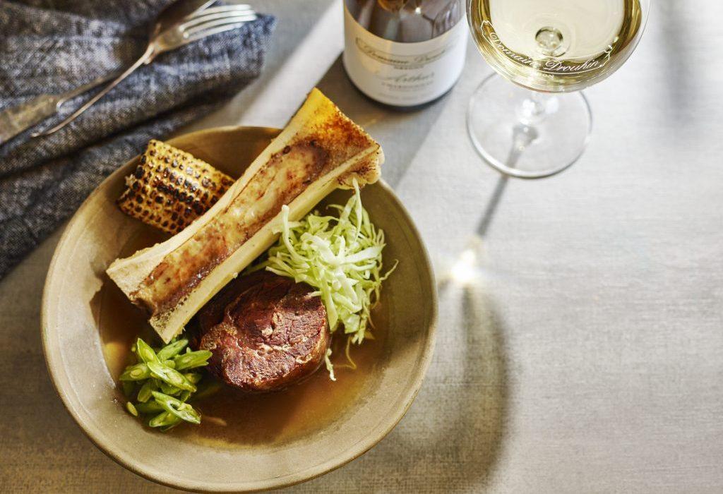 Bone broth soup with Arthur Chardonnay